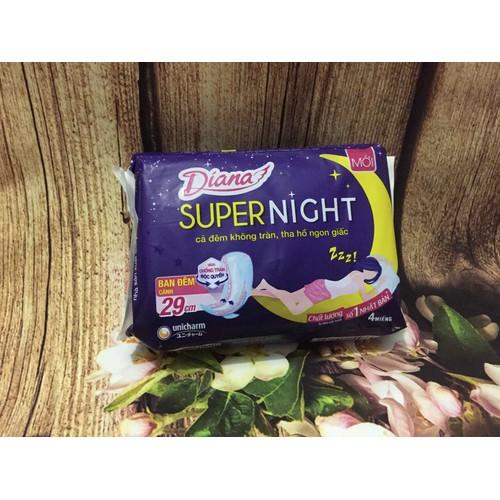Lô 6 Băng vệ sinh Diana Super Night Ban đêm 29cm 4 miếng - 11284480 , 16201002 , 15_16201002 , 75000 , Lo-6-Bang-ve-sinh-Diana-Super-Night-Ban-dem-29cm-4-mieng-15_16201002 , sendo.vn , Lô 6 Băng vệ sinh Diana Super Night Ban đêm 29cm 4 miếng