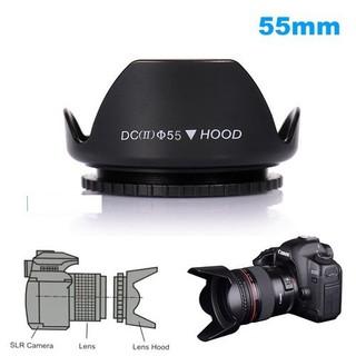 Lens hood loa che nắng hoa sen vặn ren ống kính phi 55mm - HO-Hoasen-55mm thumbnail