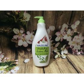 Sữa dưỡng thể dưỡng trắng Hazeline matcha và lựu đỏ chai 370ml - 370ml