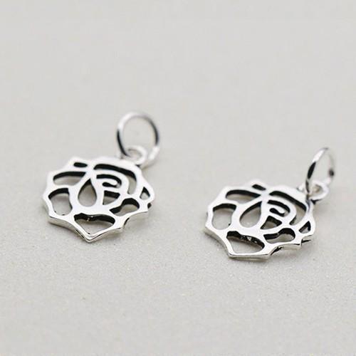 Phụ kiện bạc Mặt khắc hoa treo
