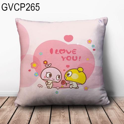 Gối vuông couple sweet GVHT294