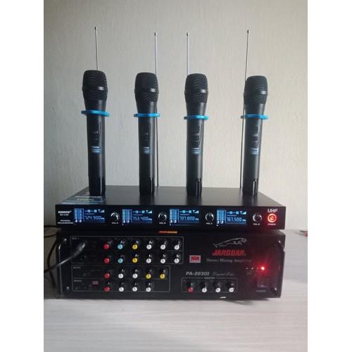 Micro karaoke không dây SH238 4 tay mic