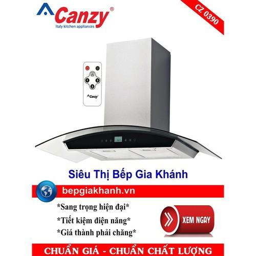Máy hút mùi nhà bếp dạng kính cong 90cm Canzy CZ 0390