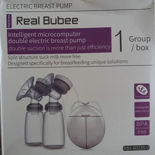 Máy hút sữa điện đôi Real Bubee- Máy hút sữa êm như bé bú , không gây sệ ngực