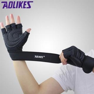Đôi găng tay thể thao cao cấp AOLIKES - găng tay quấn cổ tay AL thumbnail