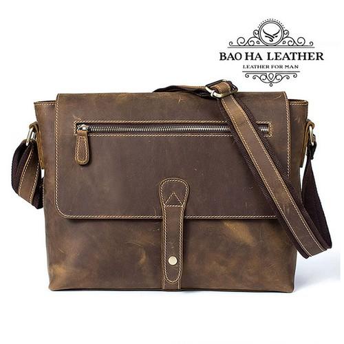 Túi da đeo chéo nam dáng ngang – BHM8116