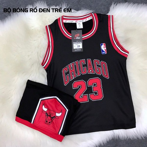 Bộ quần áo bóng rổ trẻ em Chicago Bulls 23 đen - 4528311 , 16202428 , 15_16202428 , 129000 , Bo-quan-ao-bong-ro-tre-em-Chicago-Bulls-23-den-15_16202428 , sendo.vn , Bộ quần áo bóng rổ trẻ em Chicago Bulls 23 đen