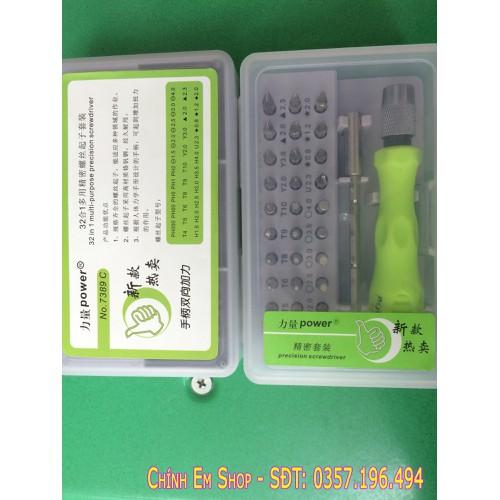 Bộ Tô Vít Đa Năng Power Precision Screwdriver NO-7389C K60PH - Tặg Lưỡi D0rco