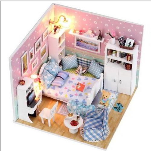 Bộ đồ chơi lắp ráp phòng ngủ giường tầng cho bé