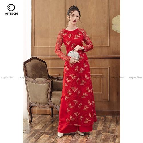 Áo dài nữ 050 Đỏ