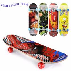Ván Trượt Skateboard Hoạt Tiết Hoạt Hình CHo Bé