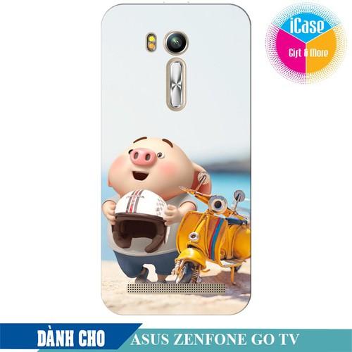 Ốp lưng nhựa dẻo dành cho ASUS ZenFone Go TV ZB551KL in hình Heo Con Đi Phượt