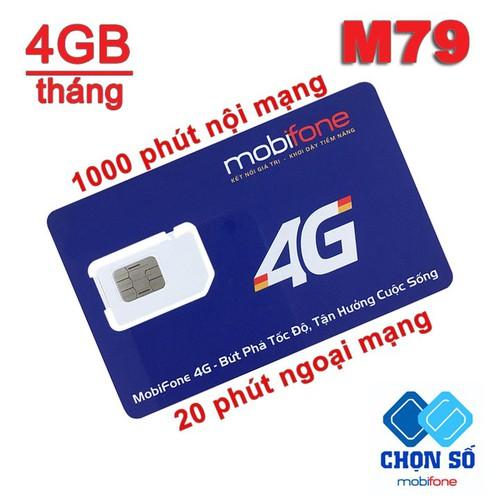 Sim 4G MobiFone M79 Tặng 1020 phút gọi và 4Gb - M79 Mobi