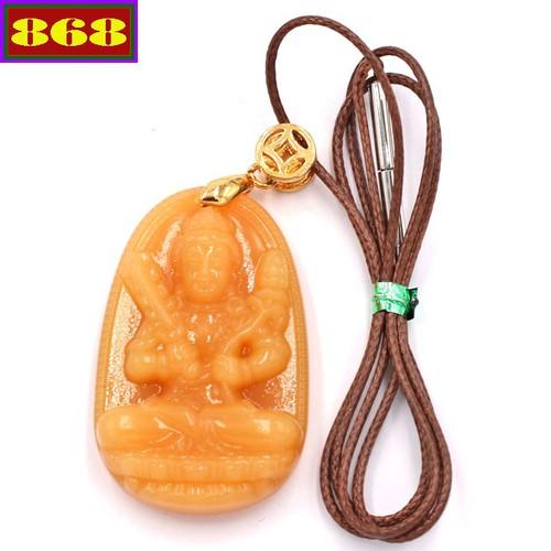 Vòng cổ Hư Không Tạng Bồ tát thạch anh vàng 3.6 cm DEVB6