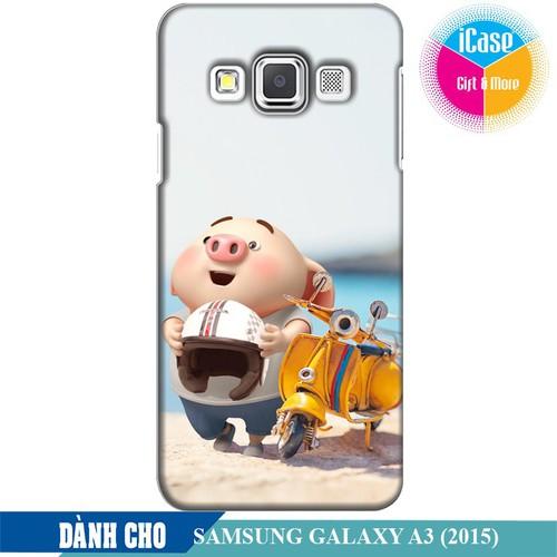 Ốp lưng nhựa dẻo dành cho Samsung Galaxy A3 in hình Heo Con Đi Phượt