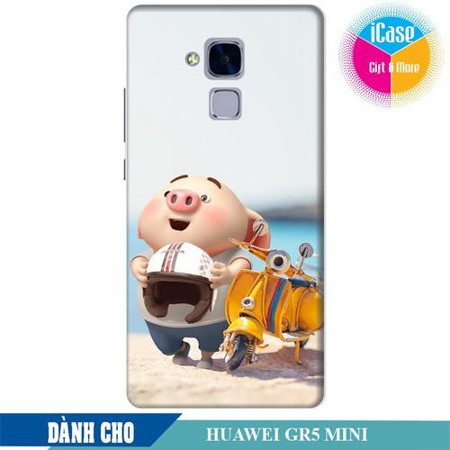 Ốp lưng nhựa dẻo dành cho Huawei GR5 Mini in hình Heo Con Đi Phượt