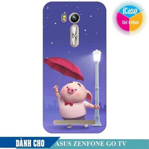 Ốp lưng nhựa dẻo dành cho ASUS ZenFone Go TV ZB551KL in hình Heo Con Cầm Ô