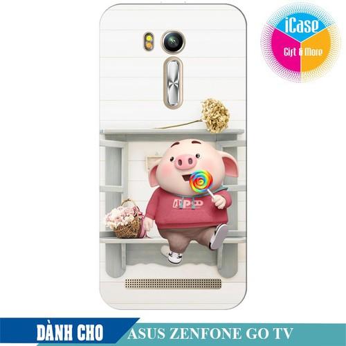 Ốp lưng nhựa dẻo dành cho ASUS ZenFone Go TV ZB551KL in hình Heo Con Kute