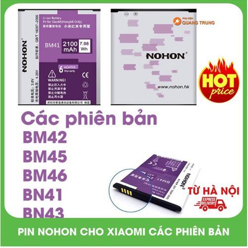 Pin Nohon Dành Cho Máy Xi.aomi Chính Hãng Redmi Note  BM42