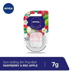 Son Dưỡng Ẩm Nivea Lip Pop-Ball Raspberry & Red Apple 7g _ 85129