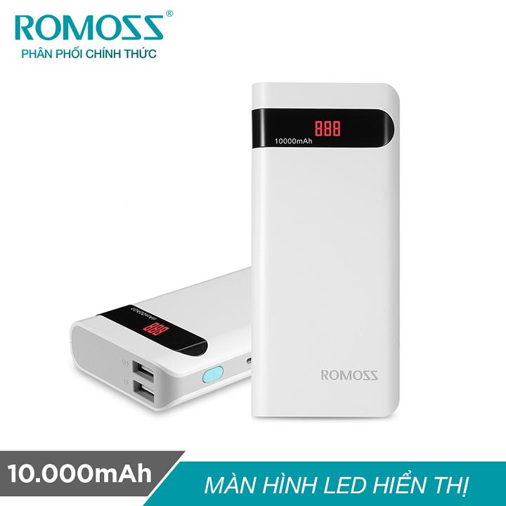 Pin sạc dự phòng Romoss Sense 4P 10.000mAh Trắng - Chính hãng - SEN4P