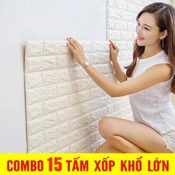[15 tấm] Xốp Dán Tường 3D - Xốp Dán Tường 3D