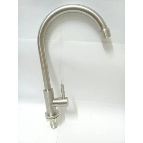 Vòi rửa chén bát ,inox,lạnh ,cắm chậu cần cứng ,tặng 1 dây cấp nước -new