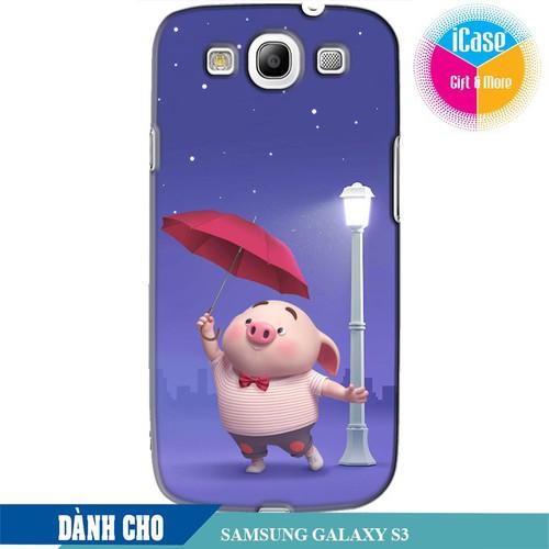 Ốp lưng nhựa dẻo dành cho Samsung Galaxy S3 in hình Heo Con Cầm Ô