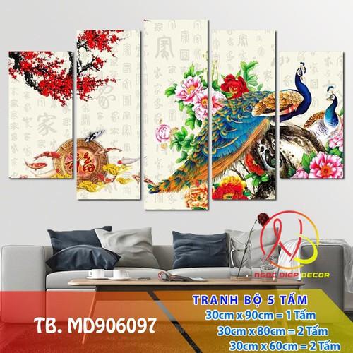 Tranh treo tường -  tranh chim công