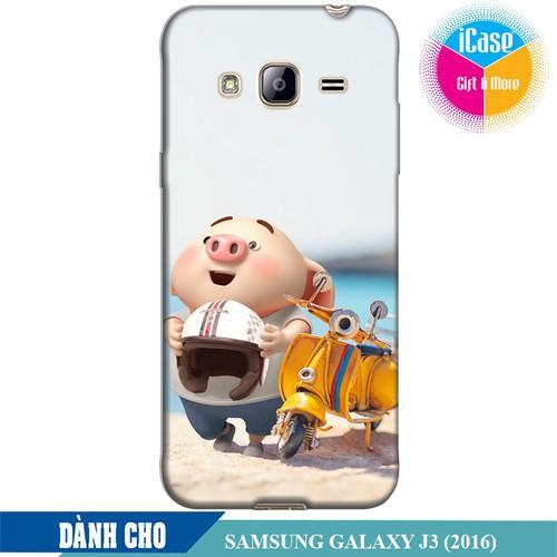 Ốp lưng nhựa dẻo dành cho Samsung Galaxy J3 2016 in hình Heo Con Đi Phượt