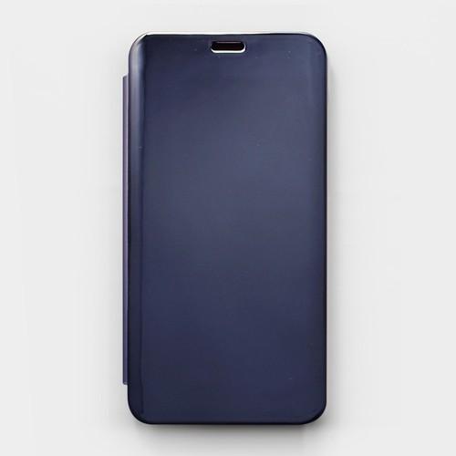 Bao da Vivo V9 Clear View gương xanh đen