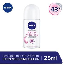 Lăn Ngăn Mùi Trắng Mịn Mờ Vết Thâm Nivea Extra Whitening Roll-on 50ml _ 83747 - 4005808364848