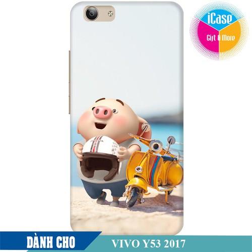 Ốp lưng nhựa dẻo dành cho Vivo Y53 2017 in hình Heo Con Đi Phượt