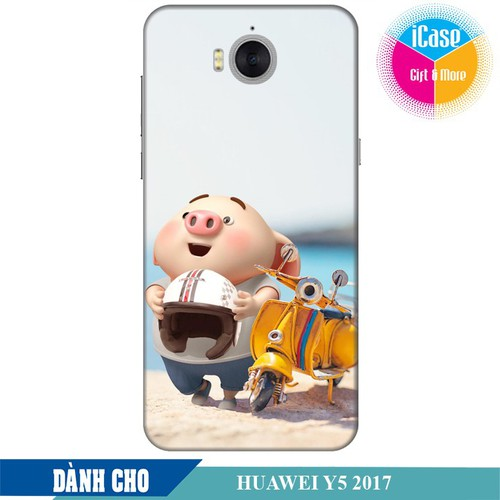 Ốp lưng nhựa dẻo dành cho Huawei Y5 2017 in hình Heo Con Đi Phượt