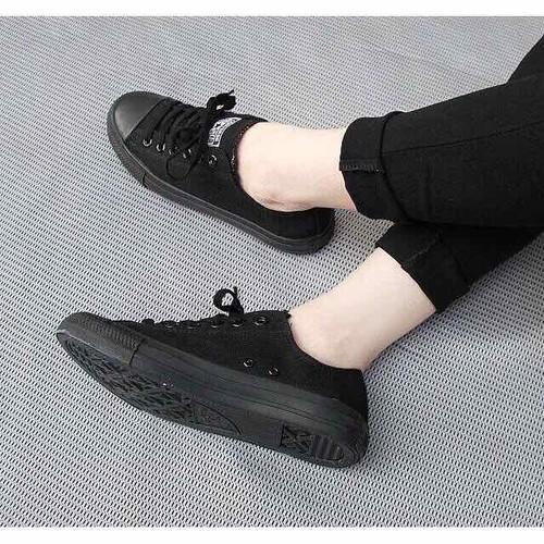 Giày thể thao nữ thấp cổ màu full đen - 4692937 , 16229272 , 15_16229272 , 125000 , Giay-the-thao-nu-thap-co-mau-full-den-15_16229272 , sendo.vn , Giày thể thao nữ thấp cổ màu full đen