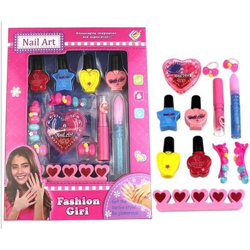 Bộ Sơn móng tay, trang điểm, kẹp tóc An toàn cho bé gái