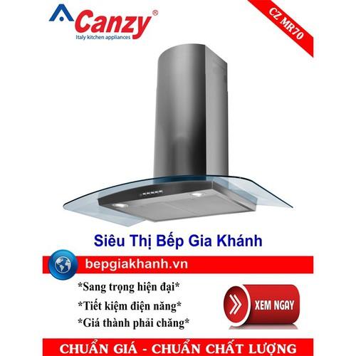 Máy hút mùi nhà bếp dạng kính cong 70cm Canzy CZ MR70