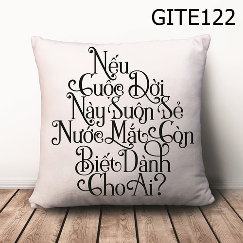 Gối vuông Quote GVHT483