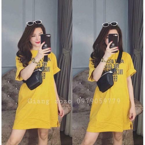 Váy Suông In Chữ - kèm ảnh thật