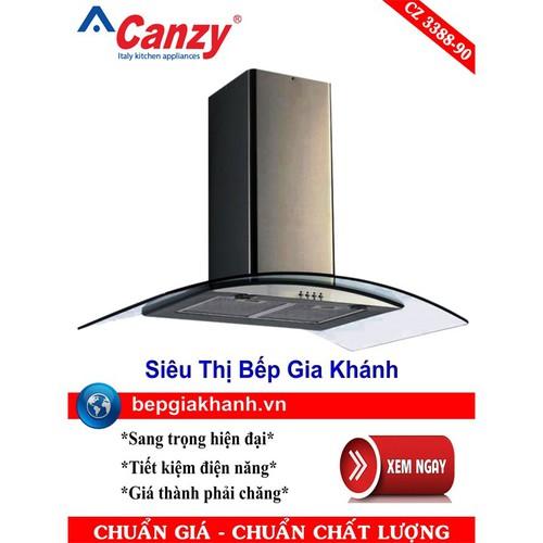 Máy hút mùi nhà bếp dạng kính cong 90cm Canzy CZ 3388-90