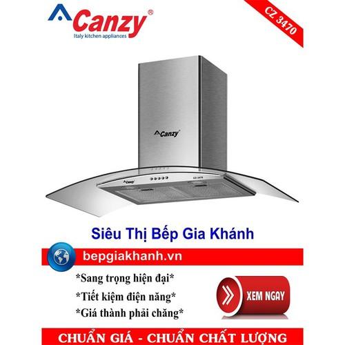 Máy hút mùi nhà bếp dạng kính cong 70cm Canzy CZ 3470