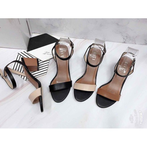 Giày thời trang Giày gót trụ hở mũi