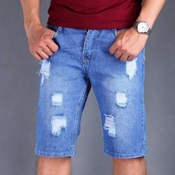 Quần Jeans nam xanh rách phong cách TS33 Tronshop
