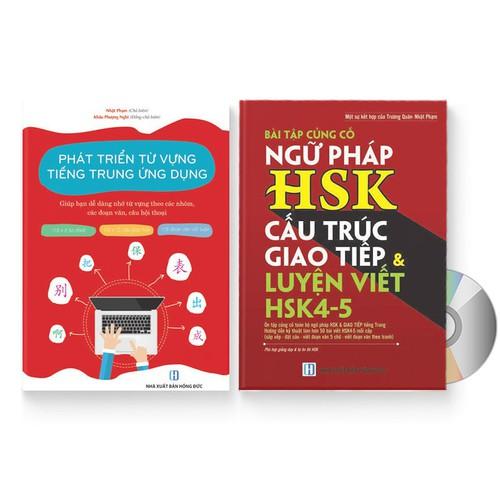 Combo 2 sách: Phát triển từ vựng tiếng Trung Ứng dụng + Bài Tập Củng Cố Ngữ Pháp HSK – Cấu Trúc Giao Tiếp & Luyện Viết HSK 4-5 kèm đáp án + DVD quà tặng - 11301821 , 16244172 , 15_16244172 , 379000 , Combo-2-sach-Phat-trien-tu-vung-tieng-Trung-Ung-dung-Bai-Tap-Cung-Co-Ngu-Phap-HSK-Cau-Truc-Giao-Tiep-Luyen-Viet-HSK-4-5-kem-dap-an-DVD-qua-tang-15_16244172 , sendo.vn , Combo 2 sách: Phát triển từ vựng tiế