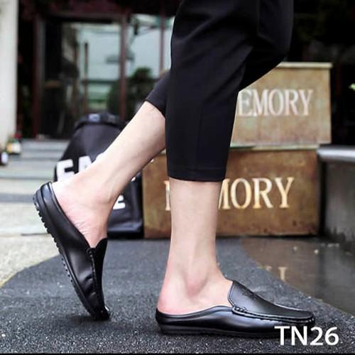 Giày Da Nam Hở Gót Thời Trang Lịch Lãm CATINO TN26 - Đen