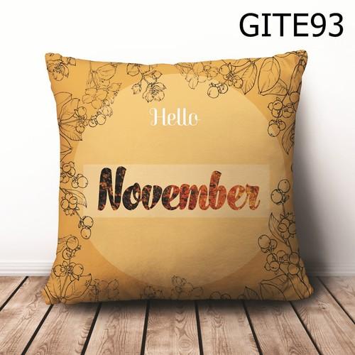 Gối vuông Quote Chào Tháng 11 GVHT452