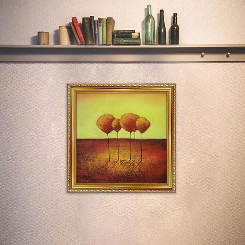 Tranh canvas phong cách sơn dầu trừu tượng có khung W1879