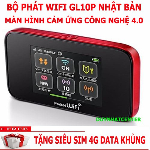 Cục phát wifi TỐC ĐỘ CAO từ sim 3G 4G Huawei GL10P hàng xịn cao cấp từ Nhật Bản