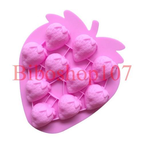 Khuôn silicon làm thạch rau câu, socola 10 trái dâu tây - 4531267 , 16247075 , 15_16247075 , 49000 , Khuon-silicon-lam-thach-rau-cau-socola-10-trai-dau-tay-15_16247075 , sendo.vn , Khuôn silicon làm thạch rau câu, socola 10 trái dâu tây