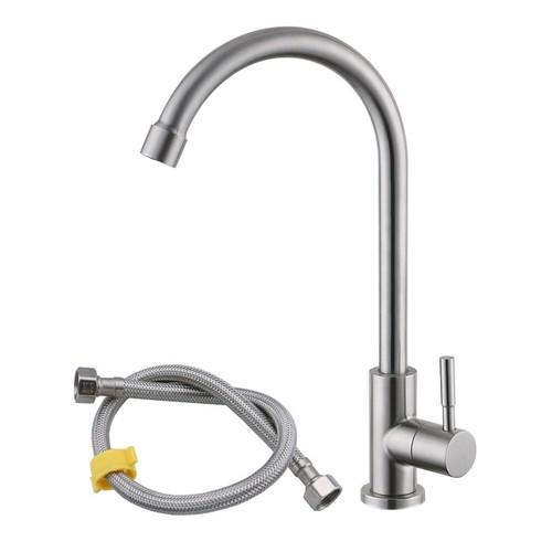 Vòi Rửa Bát, Rửa Chén Lạnh Gắn Chậu Inox 304 Cao Cấp Kitchen Faucet SUS304
